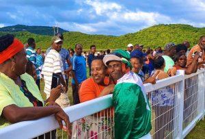 Tecrail Prestige Flat Mesh Crowd Barriers at Royal Saint Lucia Turf Club